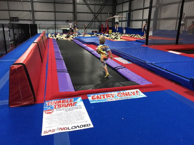 Roam the Gnome Family Travel Directory - Spring Loaded Trampoline Park Tweed Heads Banora Point long trampolines