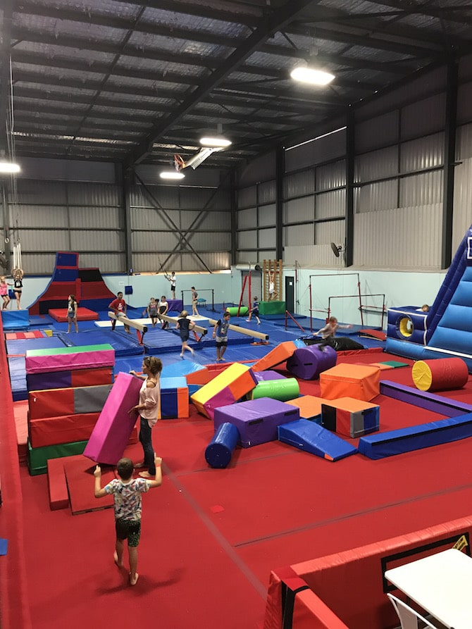 Roam the Gnome Family Travel Directory - Spring Loaded Trampoline Park Tweed Heads Banora Point obstacle course