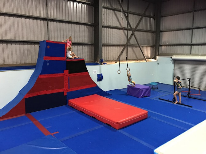 Roam the Gnome Family Travel Directory - Spring Loaded Trampoline Park Tweed Heads Banora Point parkour