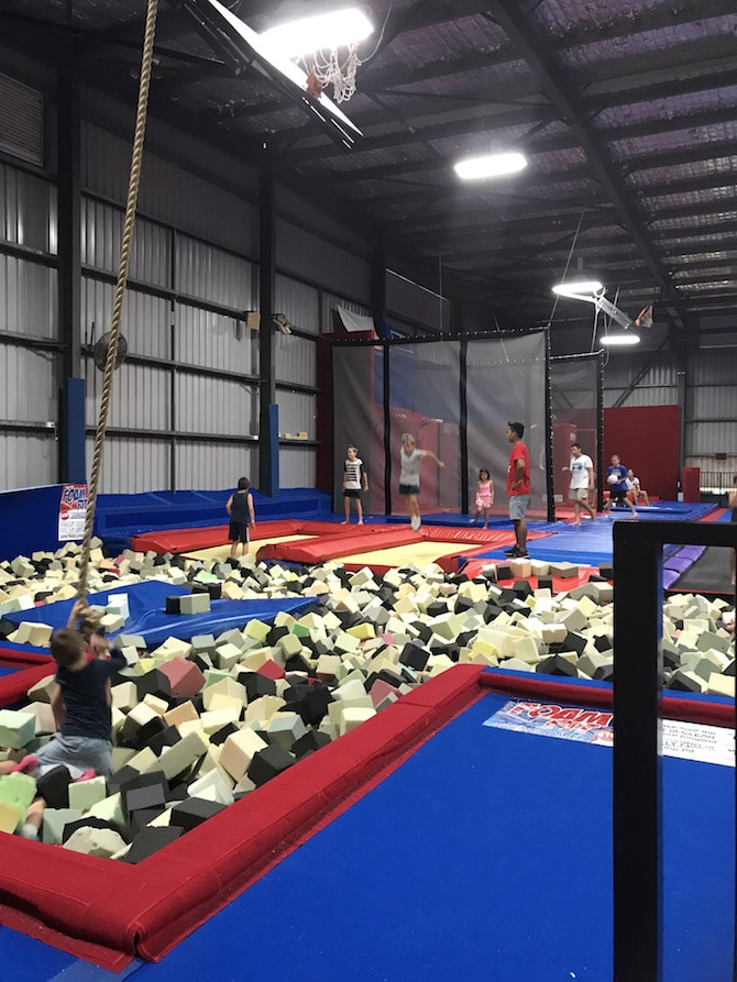 Roam the Gnome Family Travel Directory - Spring Loaded Trampoline Park Tweed Heads Banora Point