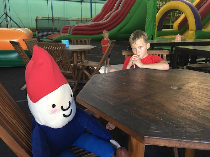 Visit Roam the Gnome Family Travel Directory for MORE SUPER DOOPER FUN ideas for family travel. Search by City. Photo- Bali Fun World cafeteria