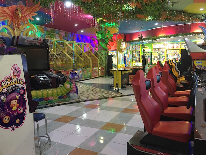 Visit ROAM THE GNOME Family Travel Directory for MORE SUPER DOOPER FUN ideas for family-friendly travel around the world. Search by City. Photo - Bali holidays with kids. Amazone indoor playground Discovery Mall Bali car racing