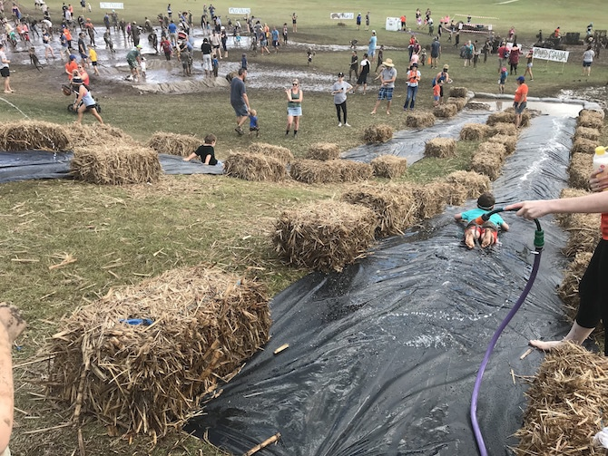 Visit ROAM THE GNOME Family Travel Directory for MORE SUPER DOOPER FUN ideas for family-friendly travel around the world. Search by City. Photo- Mudworld Brisbane - Nature Play QLD mud slide