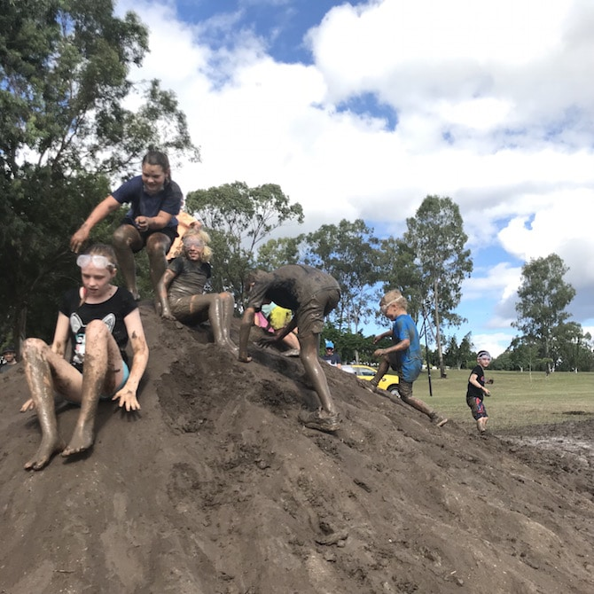 Visit ROAM THE GNOME Family Travel Directory for MORE SUPER DOOPER FUN ideas for family-friendly travel around the world. Search by City. Photo- Mudworld Brisbane - Nature Play QLD mud mountain