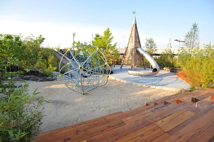 Visit ROAM THE GNOME Family Travel Directory for MORE SUPER DOOPER FUN ideas for family-friendly travel around the world. Search by City. Photo - Brooklyn Bridge Park Pier 6 playground