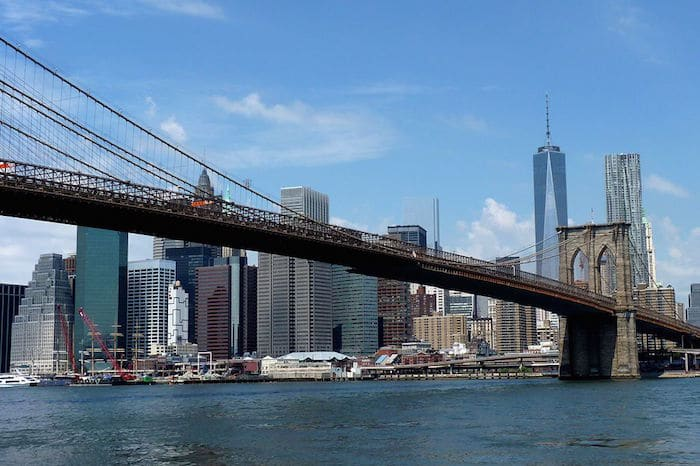 Visit Roam the Gnome Family Travel Directory for MORE SUPER DOOPER FUN ideas for family travel. Search by City. Photo- Brooklyn Bridge Walk Manhattan Tower Brooklyn_Bridge with kids