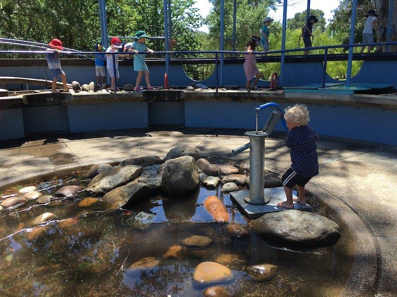 weston park adventure playground in canberra pic