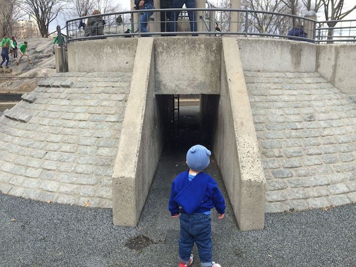 Visit ROAM THE GNOME Family Travel Website Directory for SUPER DOOPER FUN ideas for family vacations around the world. Search by city. Photo- Heckscher Playground Central Park fort play