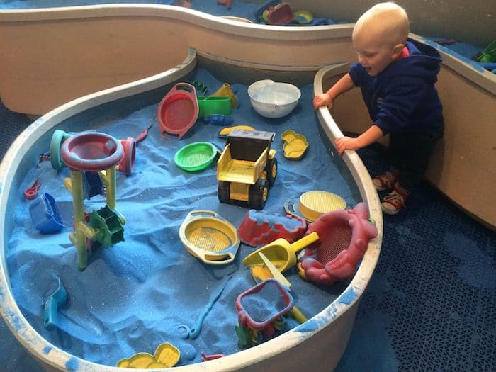 Sand box play at Brooklyn Kids Museum in New York. ROAM THE GNOME Family Travel Website. Hundreds of fun ideas and activities to help you plan and book your next family vacation or weekend adventure.