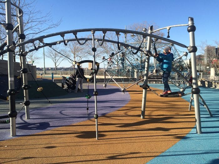 Hudson River Park Pier 25 Playground fun. ROAM THE GNOME Family Travel Website. Hundreds of fun ideas and activities to help you plan and book your next family vacation or weekend adventure.