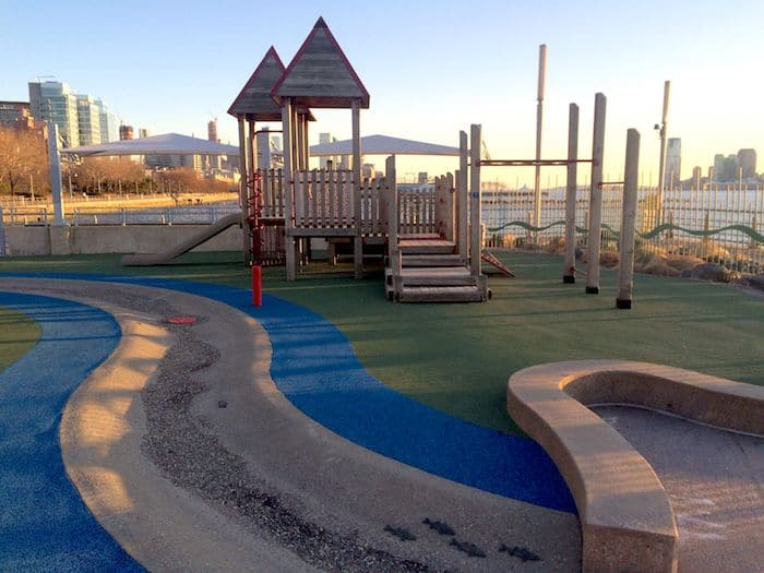Pier 51 Playground in New York . ROAM THE GNOME Family Travel Website. Hundreds of fun ideas and activities to help you plan and book your next family vacation or weekend adventure.
