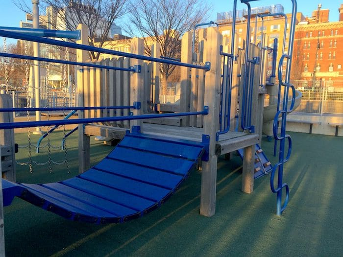 Hudson River Park Playground Pier 51 . ROAM THE GNOME Family Travel Website. Hundreds of fun ideas and activities to help you plan and book your next family vacation or weekend adventure.