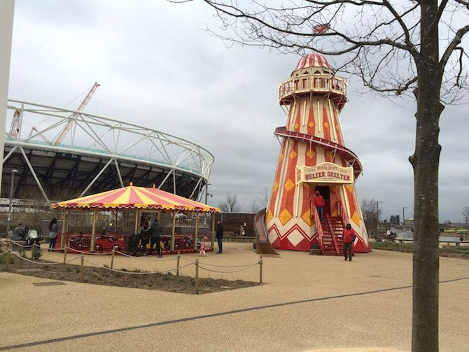 Pleasure gardens sideshow Adventure Playground Olympic Park . ROAM THE GNOME Family Travel Website.