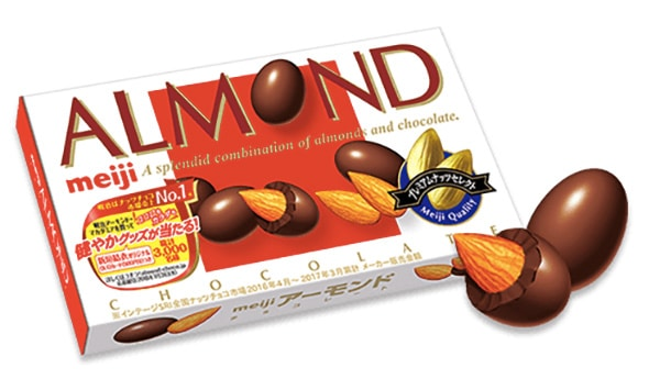 meiji almond chocolate bar image