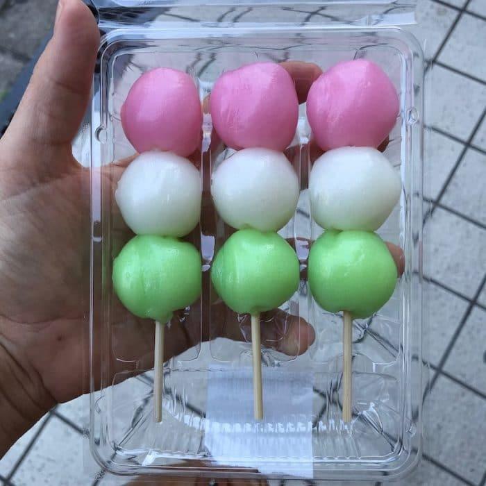 Japanese Convenience Store Food - dango mochi pic