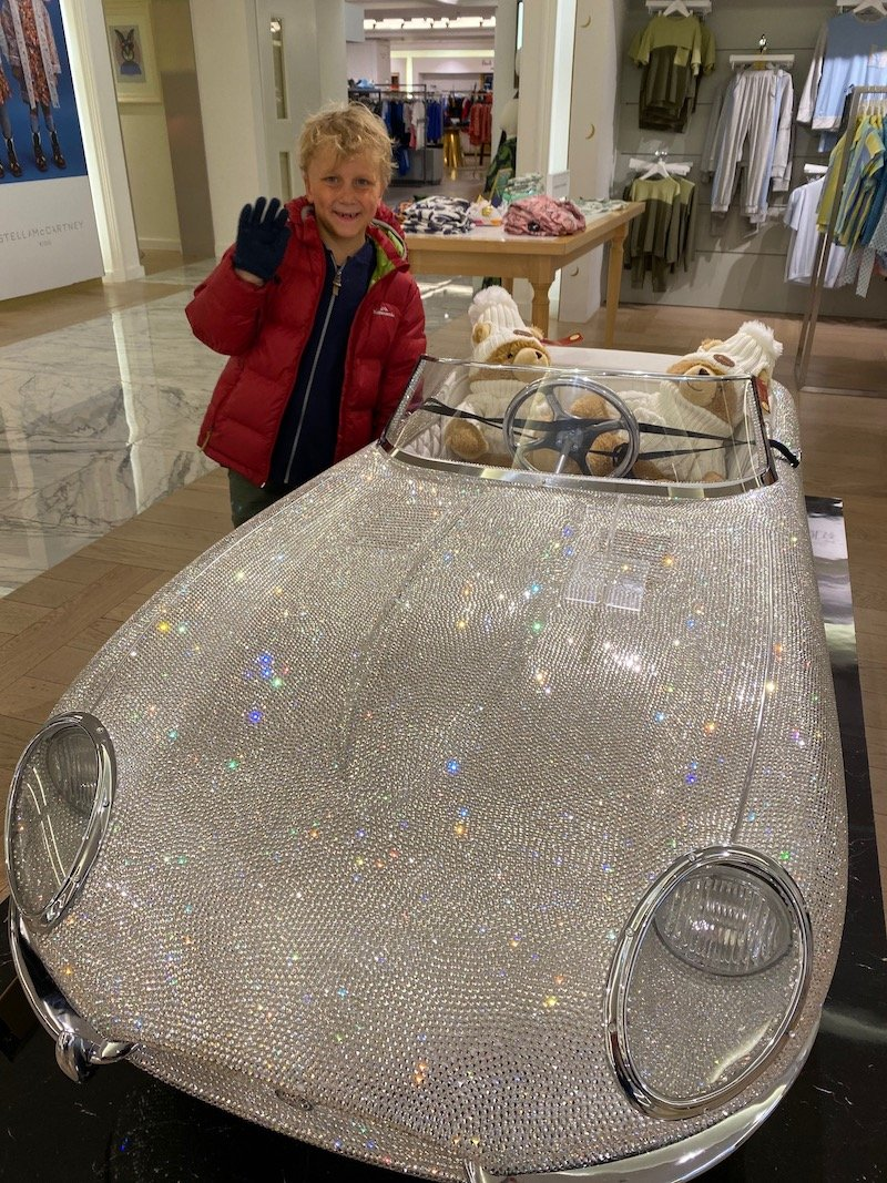 harrods crystal embellished toy car pic