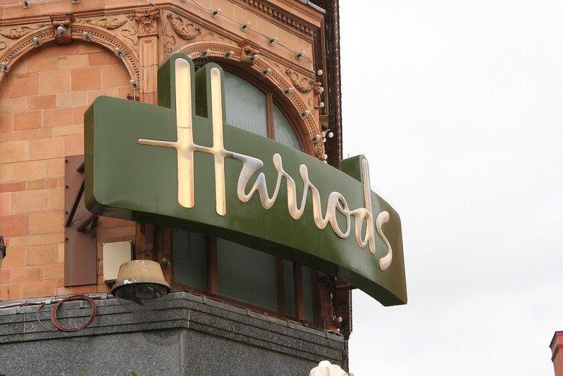 london department store sign by mario sanchez prada