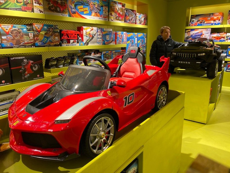 directions to harrods toy shop kids cars