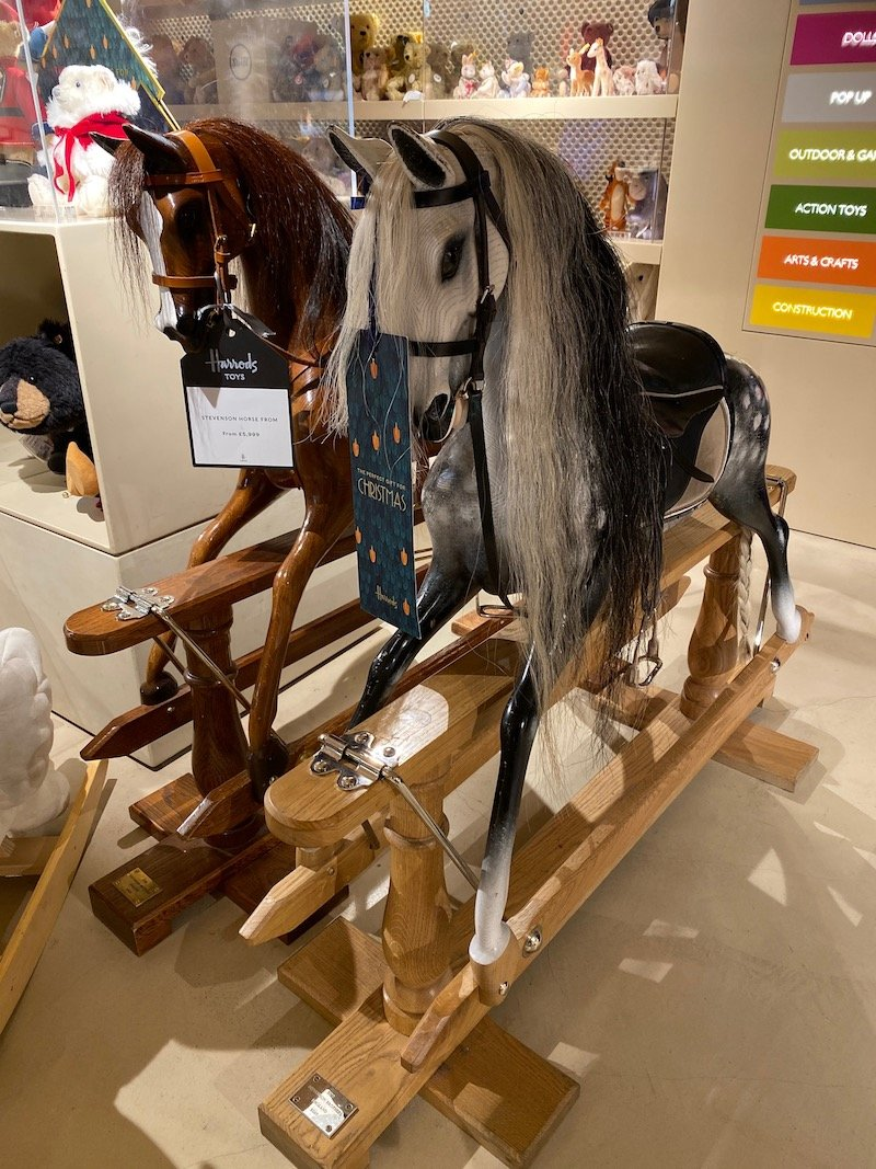 harrods toy store rocking horses