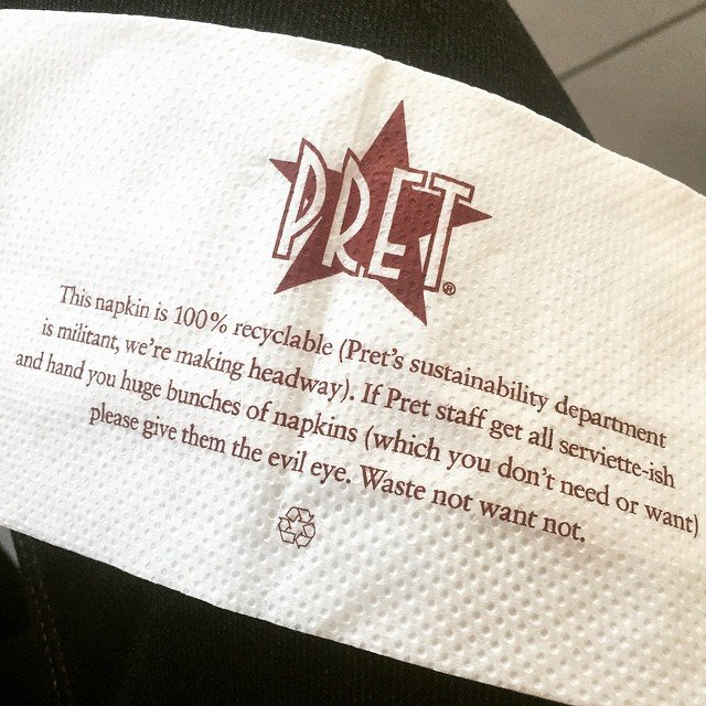 pret a manger serviette pic by faruk ates flickr