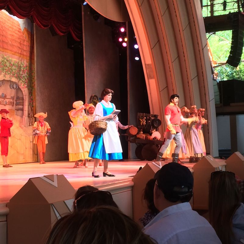 beauty and the beast show - belle beast