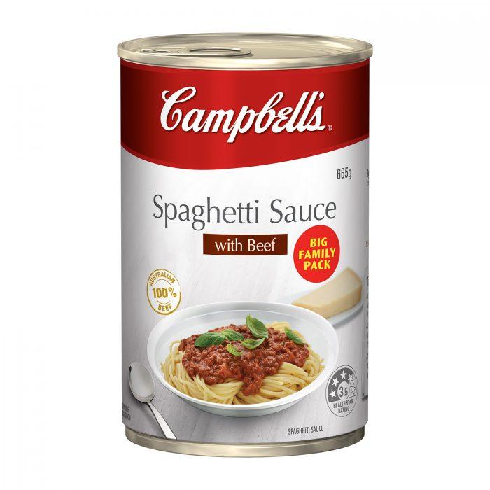 popular australian foods - campbells spaghetti sauce