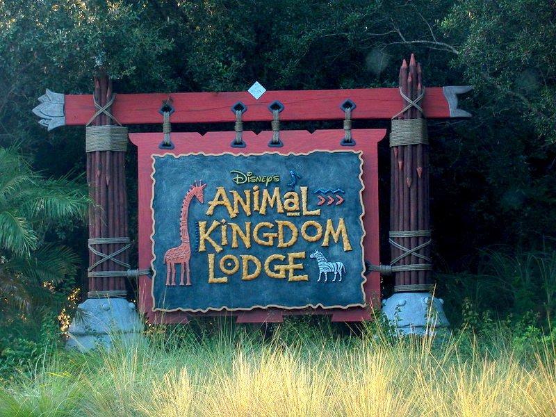 disney's animal kingdom lodge entrance sign by loren javier