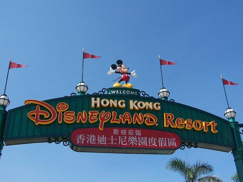 hong kong disneyland signs pic by joel