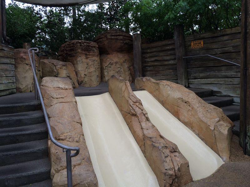 toddler slides at the boneyard playground 800