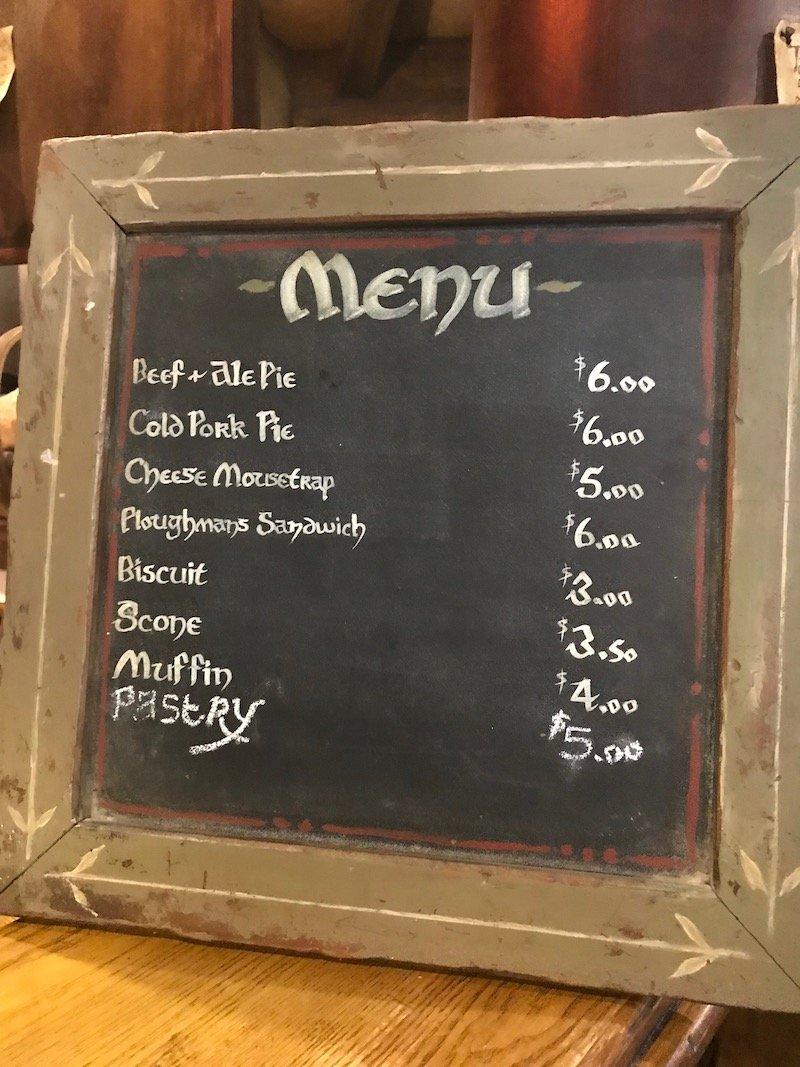 hobbiton movie set tour green dragon inn menu