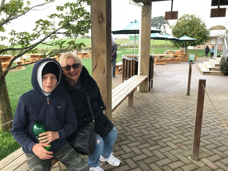 hobbiton movie set tours in new zealand - waiting for the bus pic