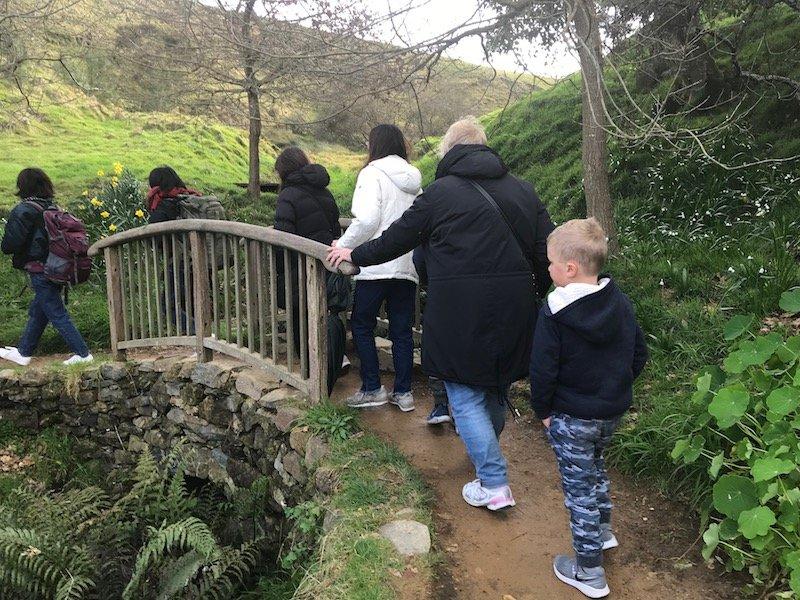 hobbiton movie set tours in new zealand - walking bridge pic