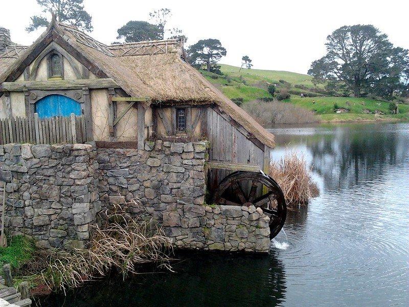 hobbiton movie set tours - waterwheel by karina salas f.