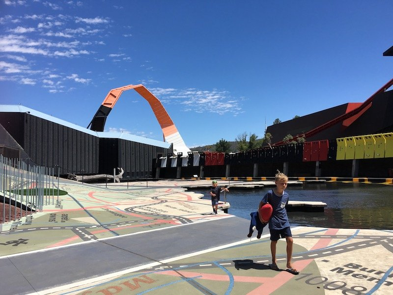 Photo- The National Canberra museum of Australia view of the entrance
