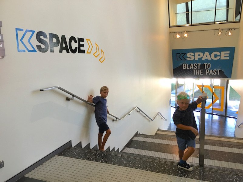 Photo- The National Museum Canberra Kspace stairs to entry