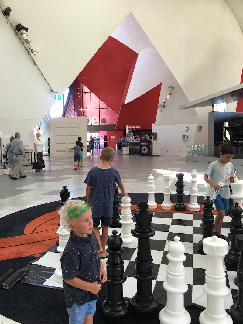 Photo- The National Museum Canberra chess game