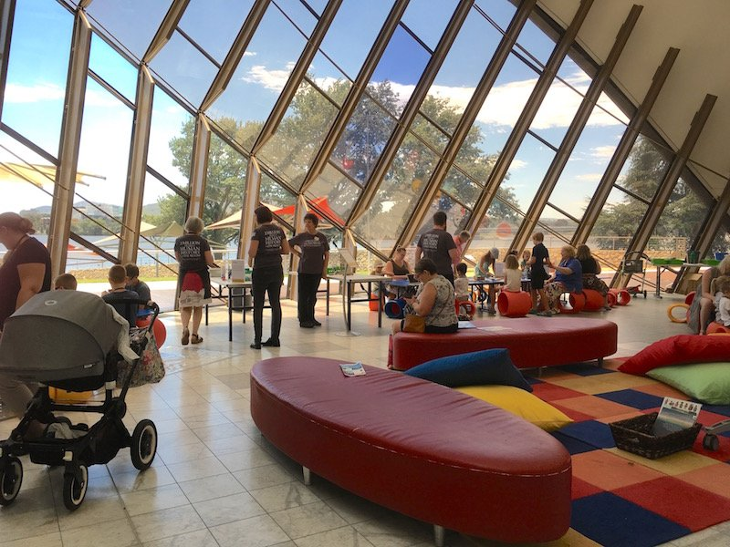 Photo- The National Museum Canberra discovery space lounges