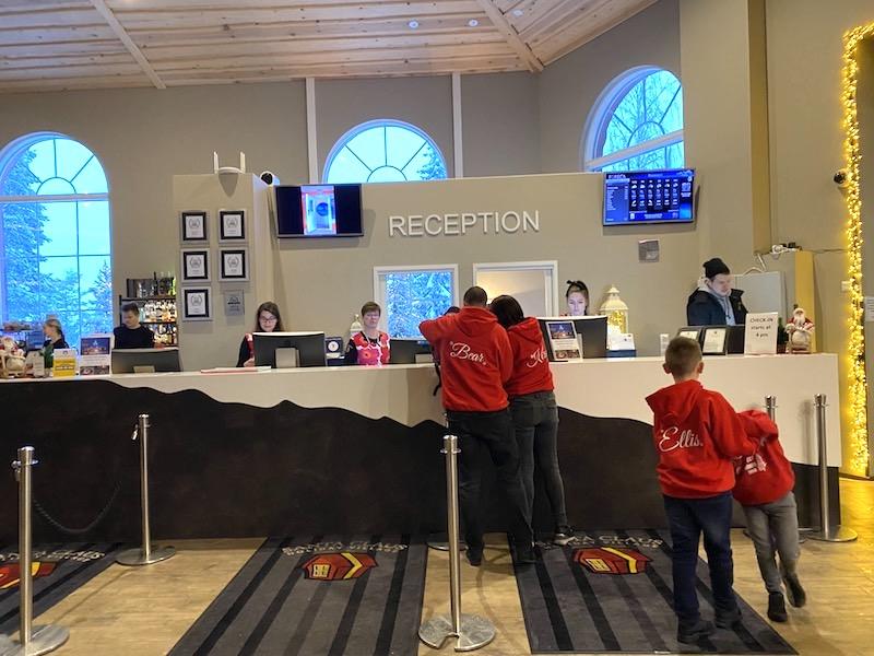 santa claus hotel reception