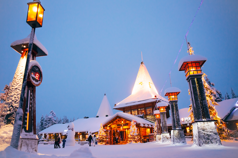 santa claus village central plaza
