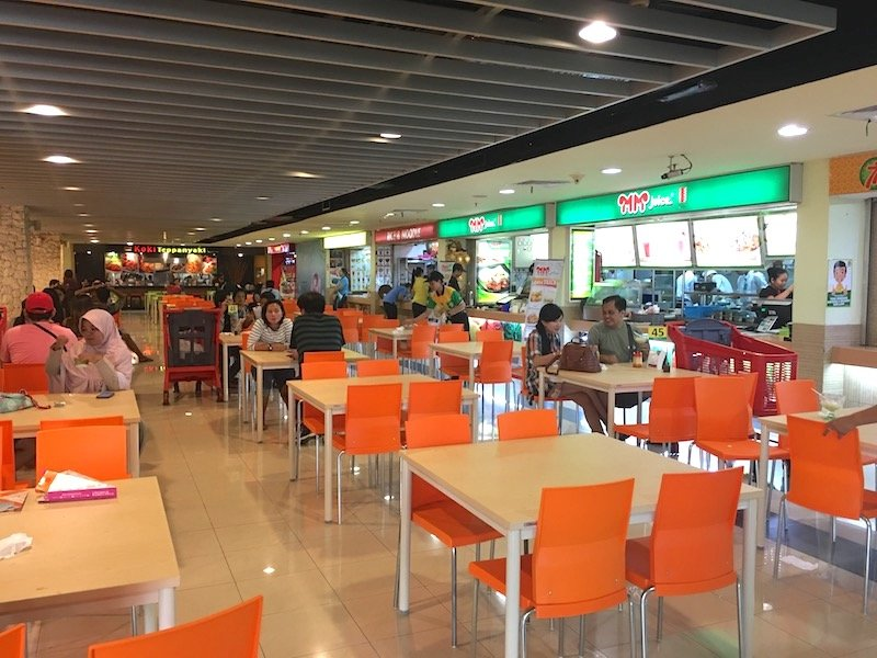Carrefour food court in Bali copy