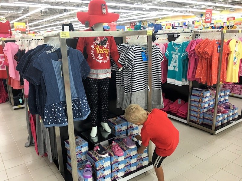 Carrefour Bali Supermarket and variety store pic of clothes racks