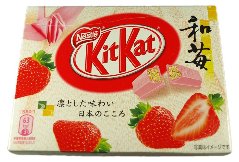 japanese chocolate kitkat strawberry pic by bodo