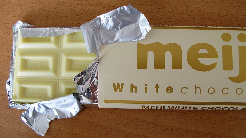 japanese chocolate white chocolate meiji bar by miki yoshihito