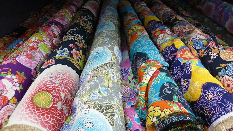 japanese silk fabric by dozodomo