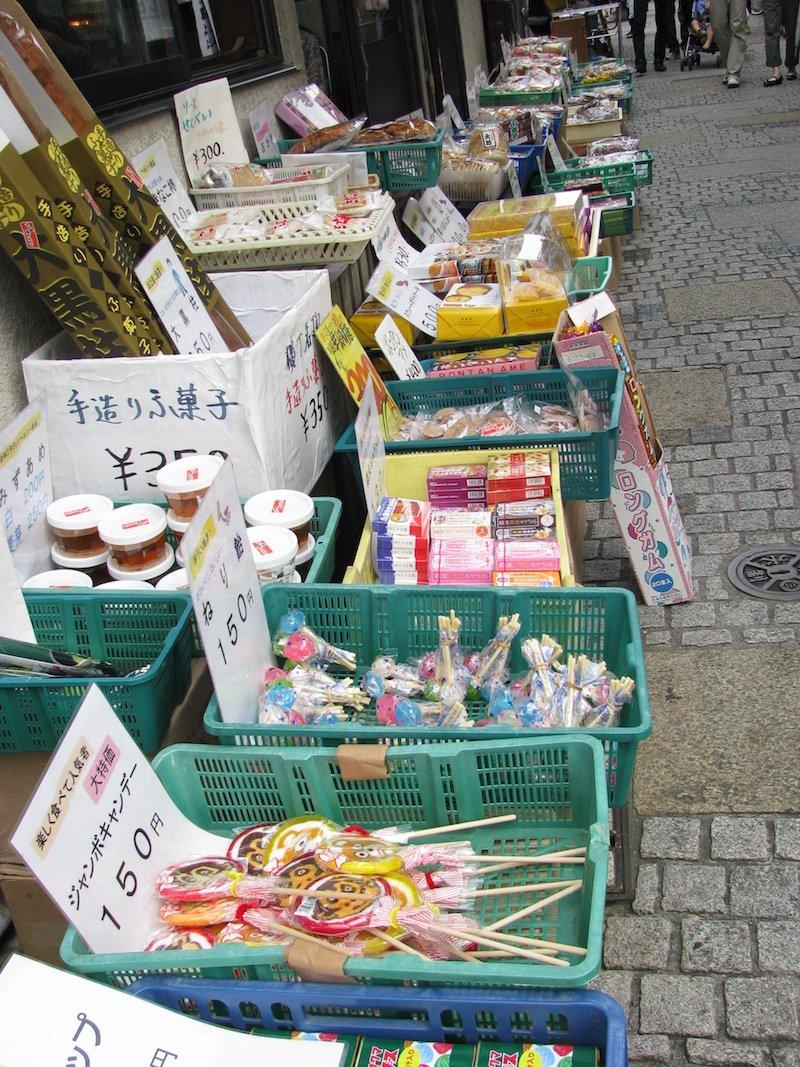 japanese snacks Dagashi wikimedia by <a href=