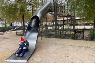 jardin des tuileries paris playground big slide pic