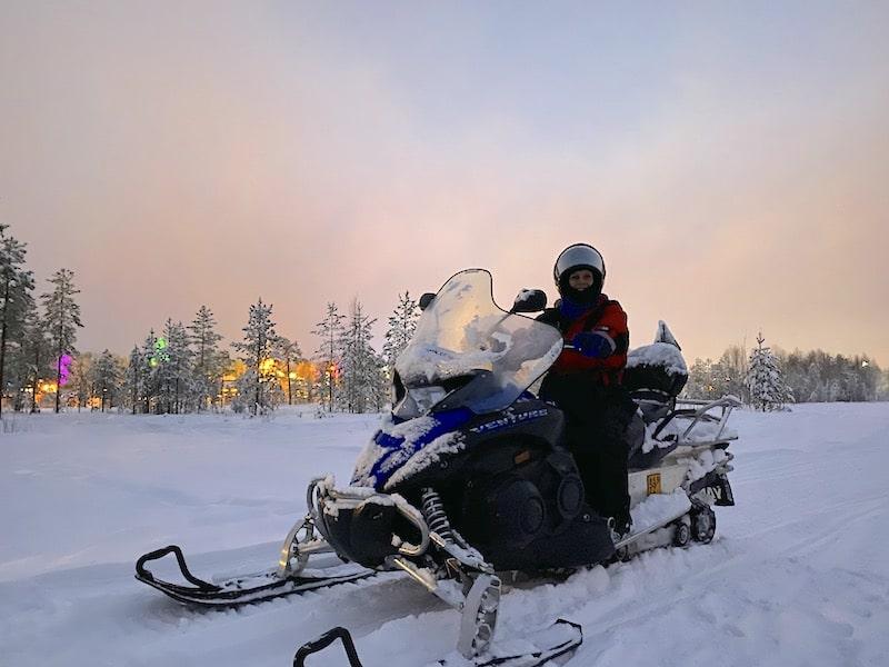 rovaniemi snowmobile tour for kids