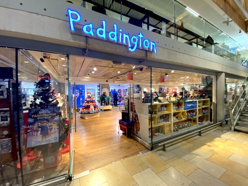 paddington bear shop entrance
