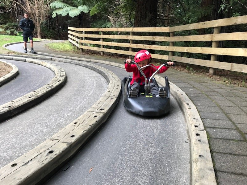 new zealand travel blog - rotorua luge pic