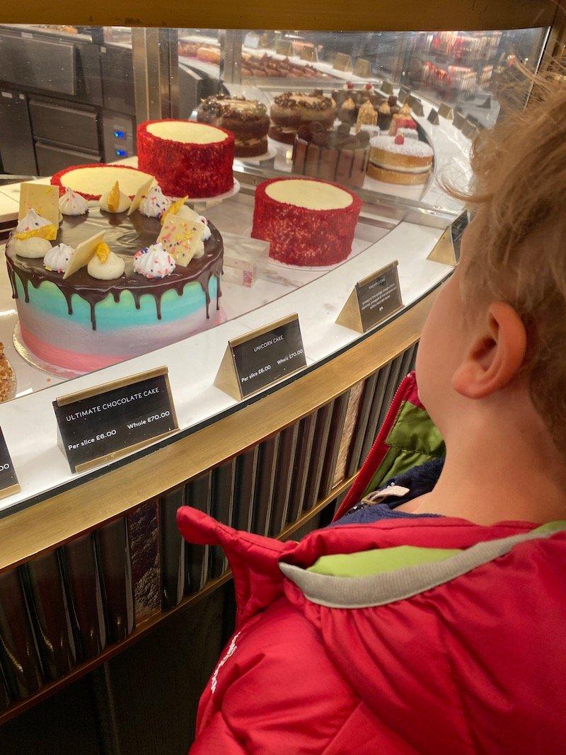 harrods food hall cake stand